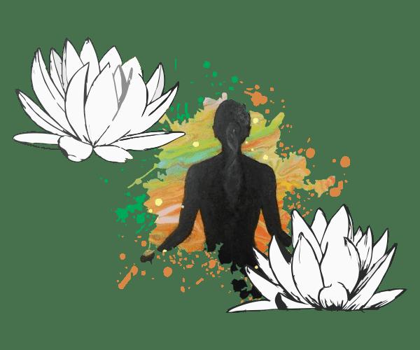 Montagem ilustrativa para o tema Yoga