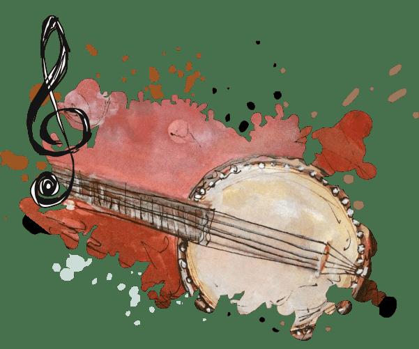 Montagem ilustrativa para o tema Música