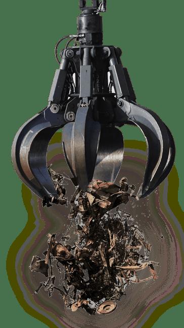 Garra de pegar metal