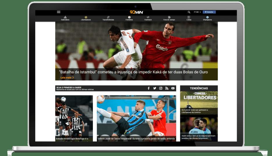 Imagem do site da empresa 90min
