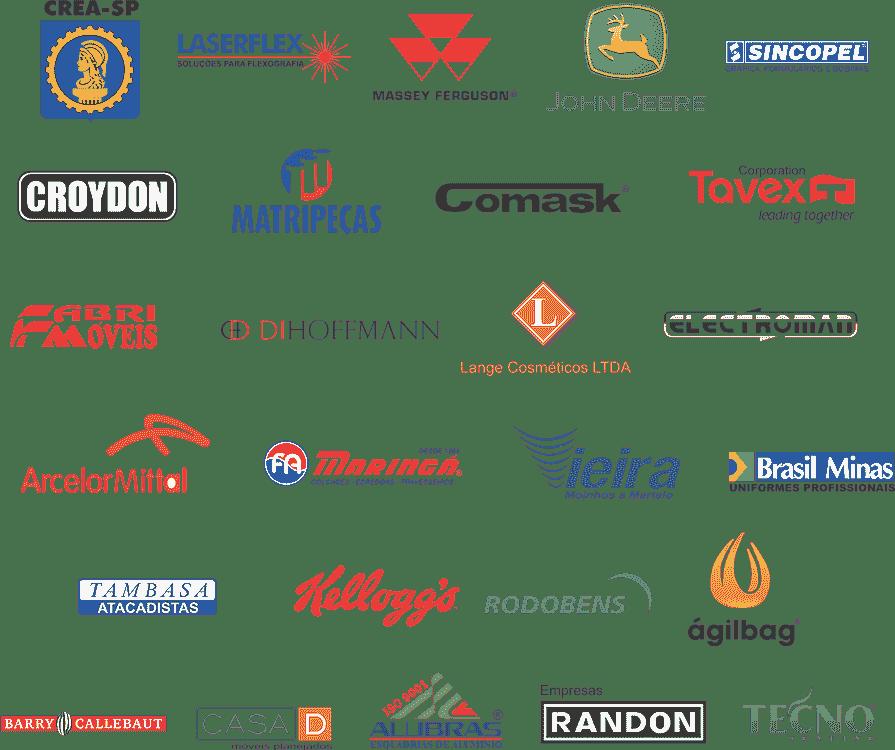 Logotipos do clientes da FM Isolamento Térmico