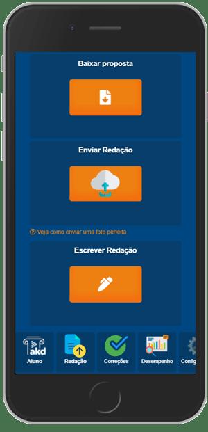 Imagem da plataforma no celular