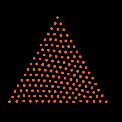 Imagem de um triângulo feito com pontilhados